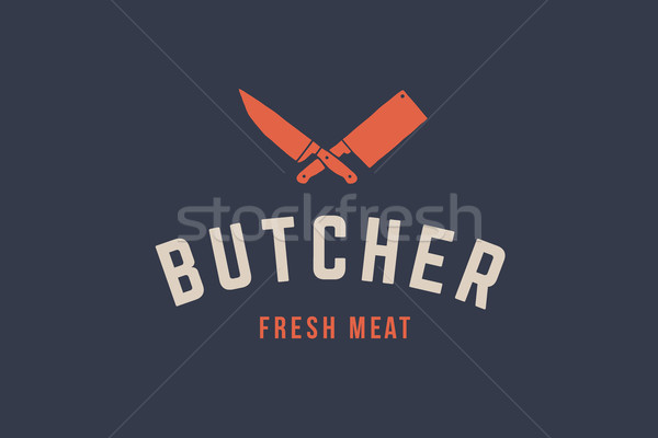 Logo for Butchery meat Stock photo © FoxysGraphic