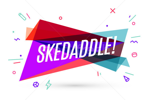 Colorful banner with text Skedaddle Stock photo © FoxysGraphic