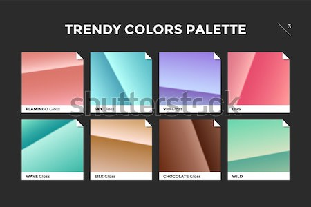 Glass facet gradient template, vector icon Stock photo © FoxysGraphic