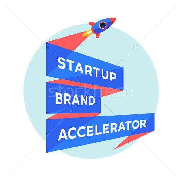 Concept design for start up project with inscription Startup Brand Accelerator Stock photo © FoxysGraphic