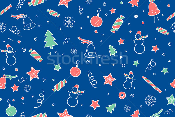 Seamless pattern for Christmas and Happy New Year theme Stock photo © FoxysGraphic