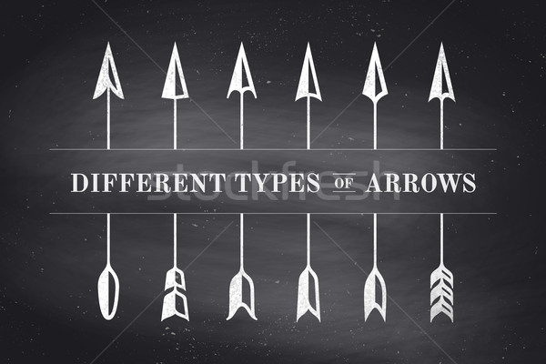 Design elements different types of arrows in retro style Stock photo © FoxysGraphic