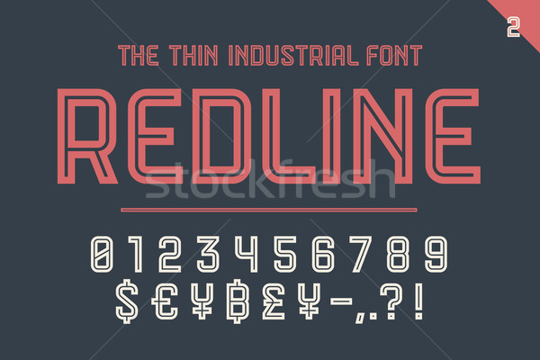 Numeric and symbol font Red Line Stock photo © FoxysGraphic