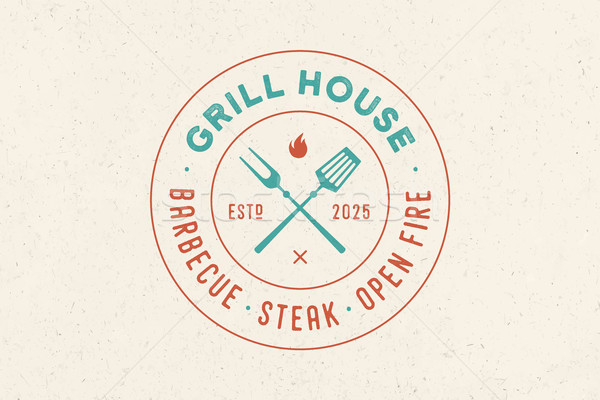 Logo for Grill House restaurant Stock photo © FoxysGraphic
