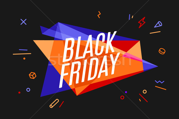 Steag text black friday vânzare magazin Imagine de stoc © FoxysGraphic