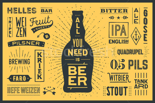 Poster All You Need Is Beer Stock photo © FoxysGraphic