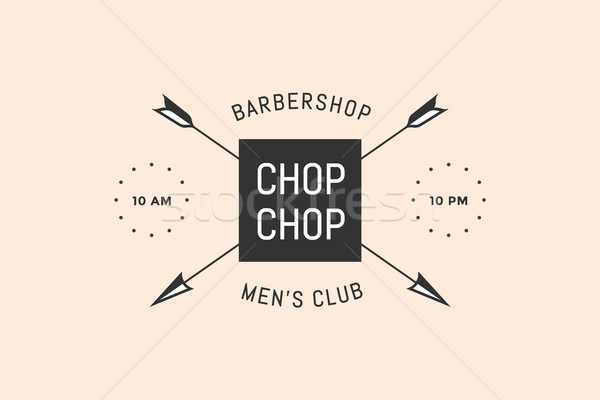 Emblem of Barbershop with arrows Stock photo © FoxysGraphic