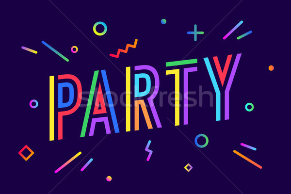 Party. Greeting card, banner, poster and flyer design Stock photo © FoxysGraphic
