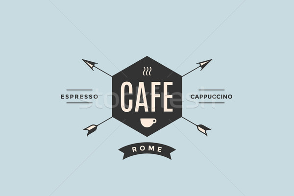 Emblem of Cafe with arrows Stock photo © FoxysGraphic