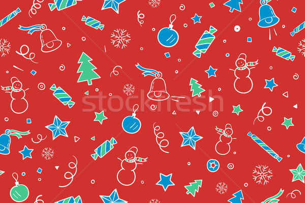 クリスマス 明けましておめでとうございます 要素 赤 ストックフォト © FoxysGraphic