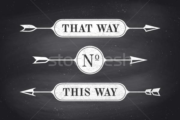 セット ヴィンテージ バナー 文字 方法 ストックフォト © FoxysGraphic