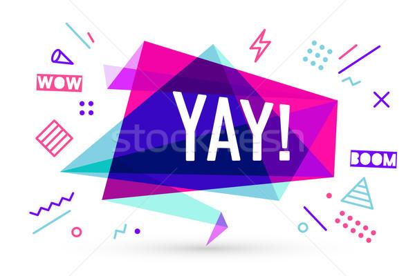 Lint banner tekst emotie motivatie positief Stockfoto © FoxysGraphic