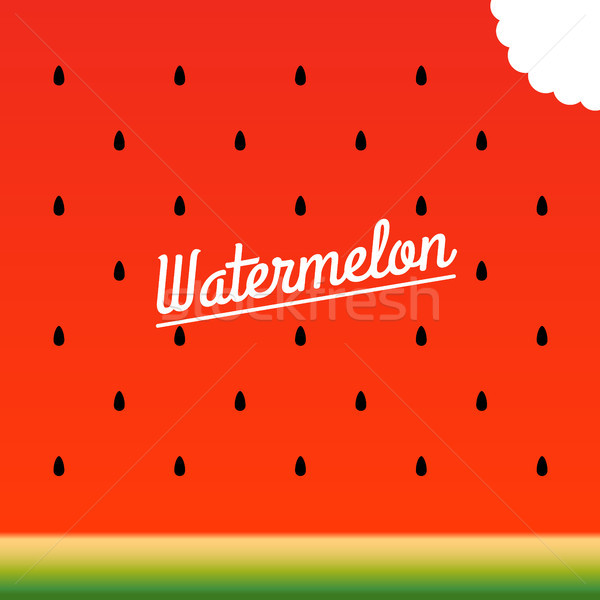 Ripe watermelon bitten piece pattern. Vector illustration. Stock photo © FoxysGraphic