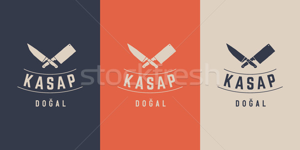 Logo for Butchery meat shop Stock photo © FoxysGraphic