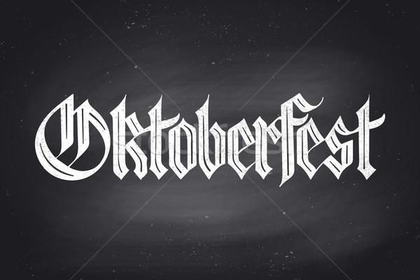 Oktoberfest birra festival carattere lavagna Foto d'archivio © FoxysGraphic