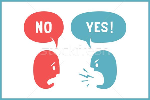два человека различный облаке говорить скидка Сток-фото © FoxysGraphic