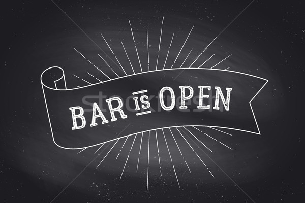 Bar Open. Chalkboard Stock photo © FoxysGraphic