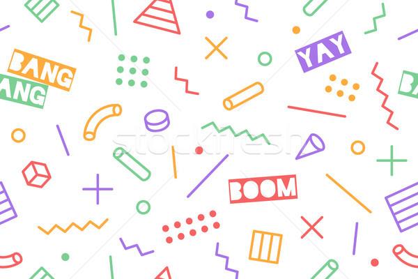 бесшовный графических шаблон модный Стили черный Сток-фото © FoxysGraphic