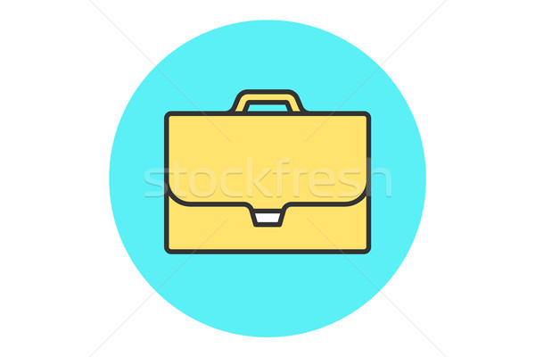Icon of briefcase Stock photo © FoxysGraphic