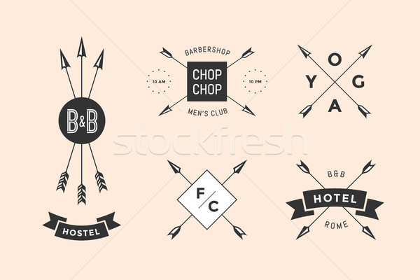 Set of emblem, label and design elements Stock photo © FoxysGraphic