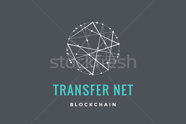 Label for blockchain technology Stock photo © FoxysGraphic