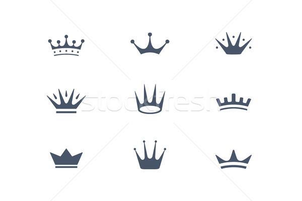 Ingesteld koninklijk iconen symbolen geïsoleerd luxe Stockfoto © FoxysGraphic
