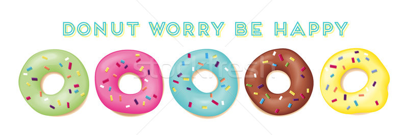 Set of sweet donuts Stock photo © FoxysGraphic