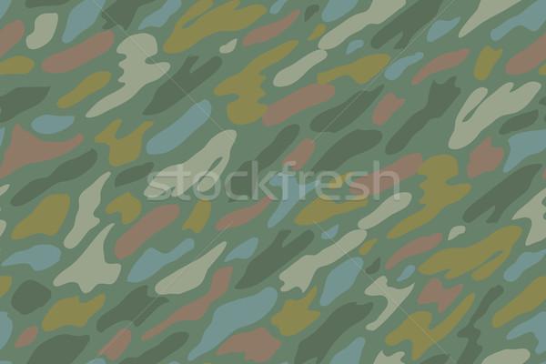 Kamuflaż powtarzać zielone włókienniczych wojskowych Zdjęcia stock © FoxysGraphic