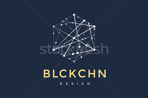 Logo for blockchain technology Stock photo © FoxysGraphic