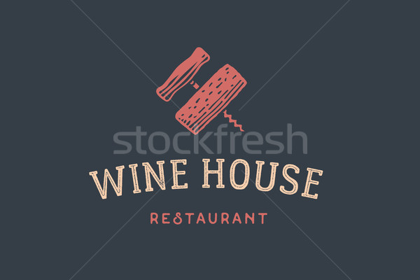Label of wine restaurant Stock photo © FoxysGraphic