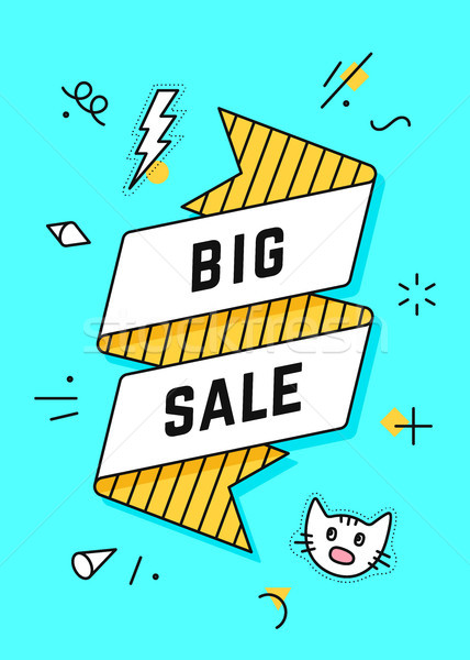 Big Sale. Vintage ribbon banner Stock photo © FoxysGraphic