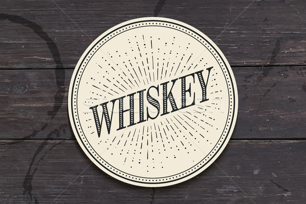 Beverage coaster for glass with inscription Whiskey Stock photo © FoxysGraphic