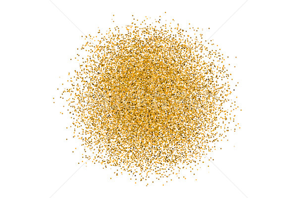 Golden circle sparkles on white background Stock photo © FoxysGraphic