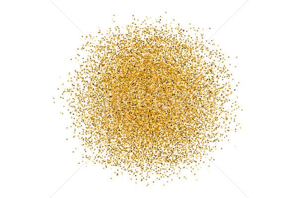 Arany kör fehér elegáns divat csillogás Stock fotó © FoxysGraphic