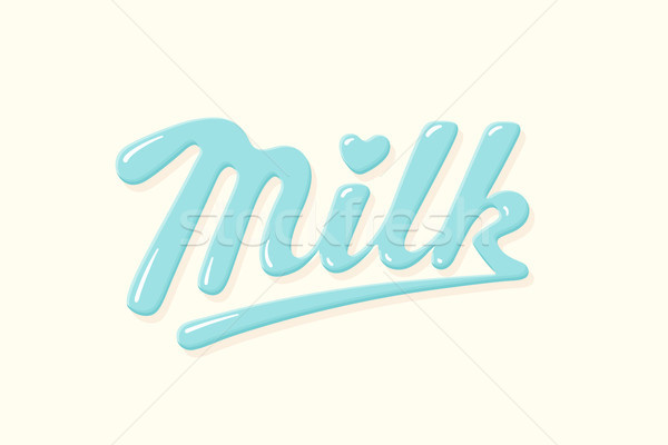 Lettering Milk, hand written design for brand Stock photo © FoxysGraphic