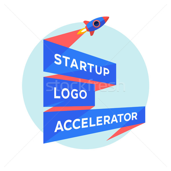 Concept design for startup project with inscription Startup Logo Accelerator Stock photo © FoxysGraphic