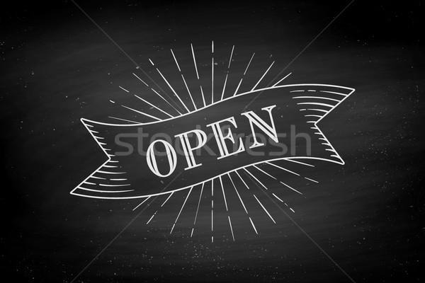 古い ヴィンテージ リボン バナー 文字 オープン ストックフォト © FoxysGraphic