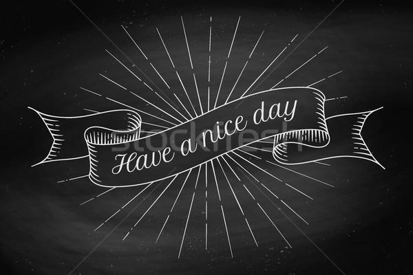 Agradable día edad vintage cinta banner Foto stock © FoxysGraphic