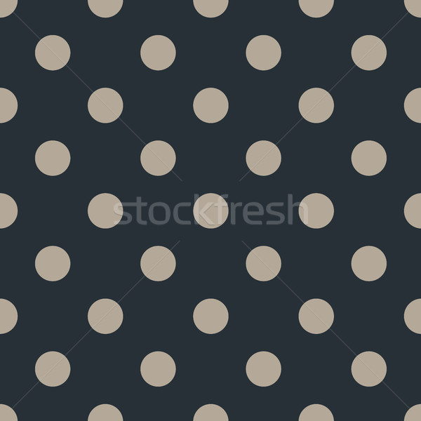 Polka dot seamless pattern on black background. Vector Illustration. Stock photo © FoxysGraphic
