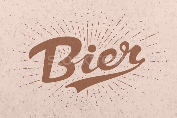Kézzel rajzolt sör klasszikus rajz bár kocsma Stock fotó © FoxysGraphic