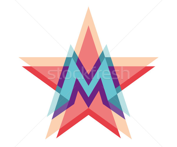 Star logo lettera m abstract design spazio Foto d'archivio © FoxysGraphic