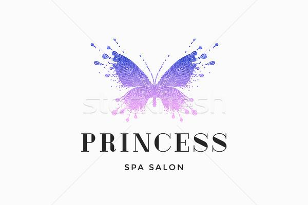 Label spa Salon Prinzessin Schönheitssalon farbenreich Stock foto © FoxysGraphic