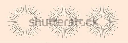 Set of sunburst, vintage graphic elements Stock photo © FoxysGraphic
