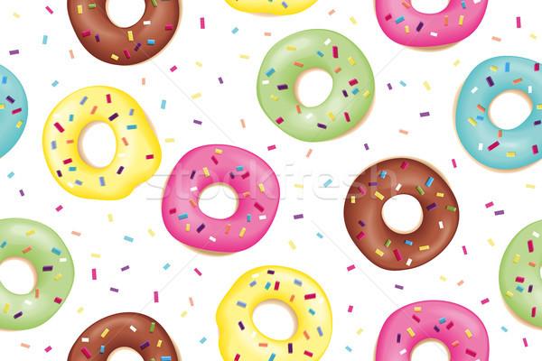 Pattern dolce colorato ciambella Foto d'archivio © FoxysGraphic