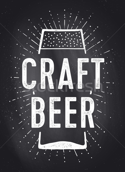 Craft Beer. Poster or banner Stock photo © FoxysGraphic
