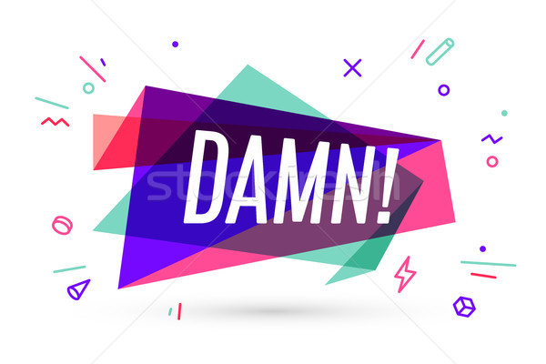 Colorful banner with text Damn Stock photo © FoxysGraphic