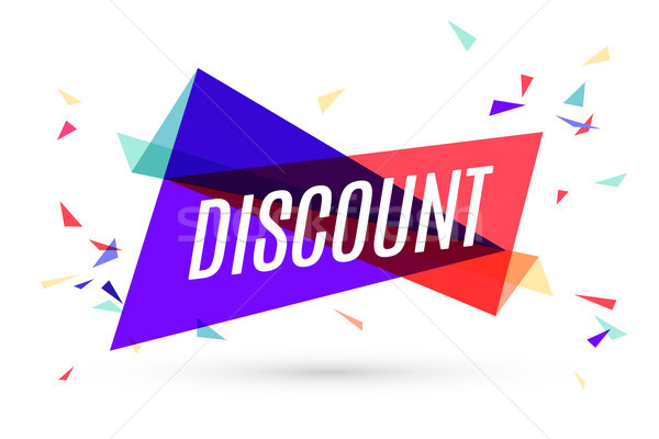 Colorful banner with text Discount Stock photo © FoxysGraphic