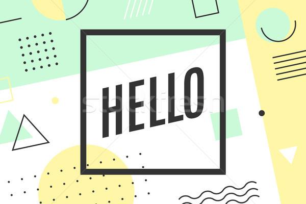 Alo poster grafic stil trendy linie Imagine de stoc © FoxysGraphic
