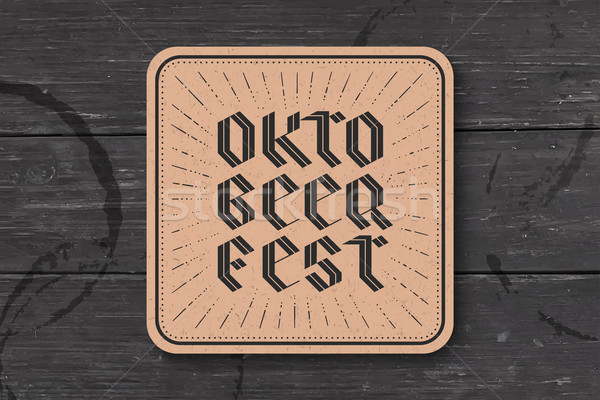 Coaster with lettering for Oktoberfest Beer Festival Stock photo © FoxysGraphic