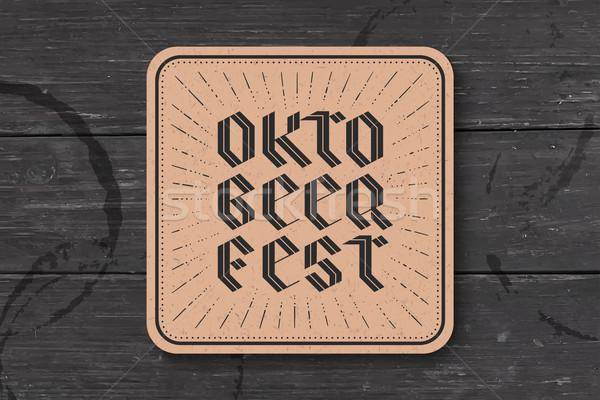Kustvaarder oktoberfest bier festival Stockfoto © FoxysGraphic
